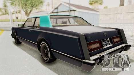 GTA 5 Dundreary Virgo Classic Custom v2 IVF para GTA San Andreas traseira esquerda vista