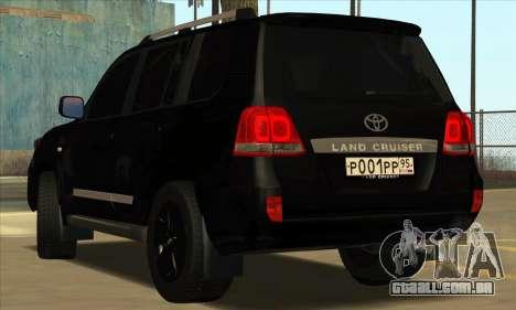Toyota Land-Cruiser 200 para GTA San Andreas traseira esquerda vista