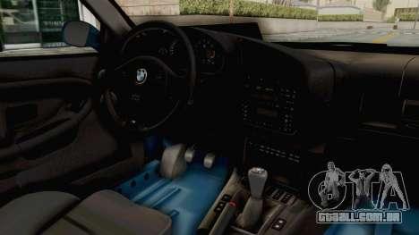 BMW 325i E36 para GTA San Andreas vista interior