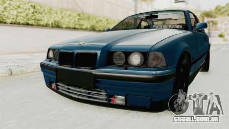 BMW 325i E36 para GTA San Andreas traseira esquerda vista