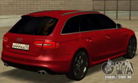 Audi S4 Avant para GTA San Andreas esquerda vista