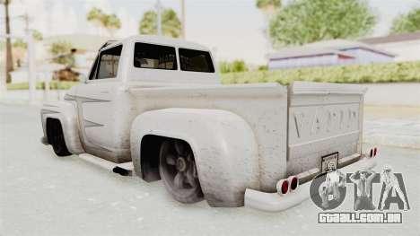 GTA 5 Slamvan Lowrider PJ1 para GTA San Andreas vista interior