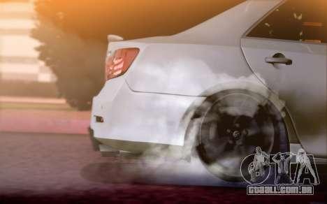 Toyota Camry V6 Sprot Edition para GTA San Andreas vista traseira