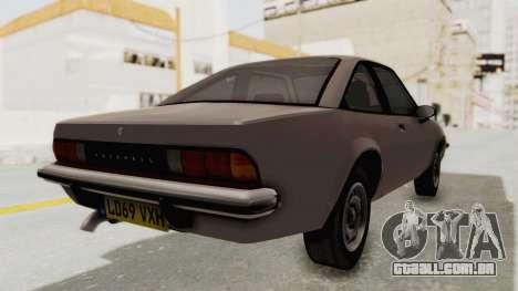 Vauxhall Cavalier MK1 Coupe para GTA San Andreas esquerda vista