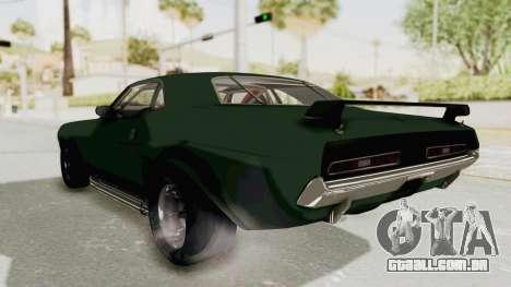 Dodge Challenger 1971 para GTA San Andreas vista direita