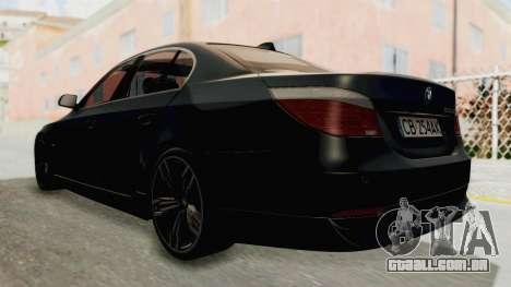BMW 530D E60 para GTA San Andreas esquerda vista