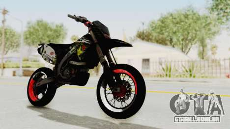 Kawasaki KLX 150S Supermoto para GTA San Andreas vista direita