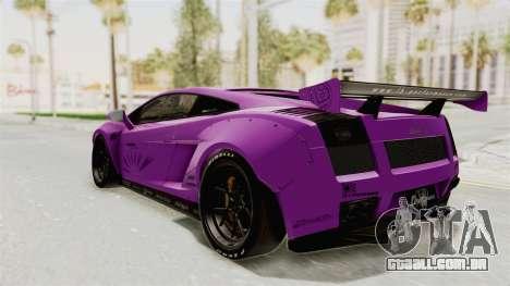 Lamborghini Gallardo 2015 Liberty Walk LB para GTA San Andreas traseira esquerda vista