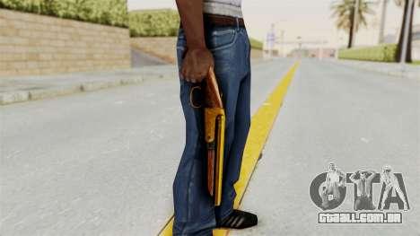Sawnoff Gold para GTA San Andreas terceira tela