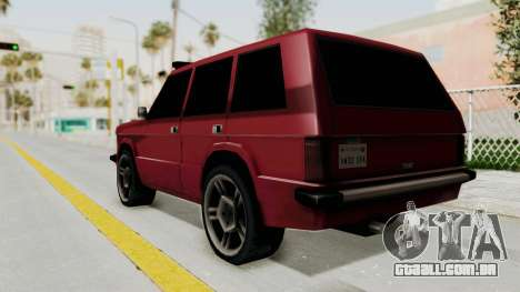 Huntley LR para GTA San Andreas esquerda vista