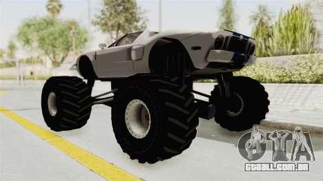 Ford GT 2005 Monster Truck para GTA San Andreas esquerda vista