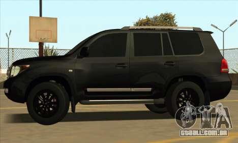 Toyota Land-Cruiser 200 para GTA San Andreas vista traseira