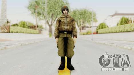 Russian Solider 3 from Freedom Fighters para GTA San Andreas segunda tela