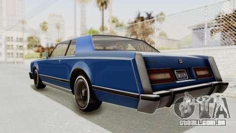 GTA 5 Dundreary Virgo Classic Custom v1 IVF para GTA San Andreas esquerda vista