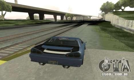 Padrão Elegia com um retrátil spoiler para GTA San Andreas vista direita