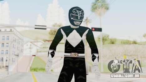 Mighty Morphin Power Rangers - Black para GTA San Andreas