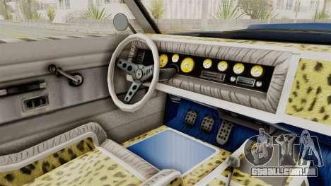 GTA 5 Declasse Sabre GT2 A para GTA San Andreas vista interior