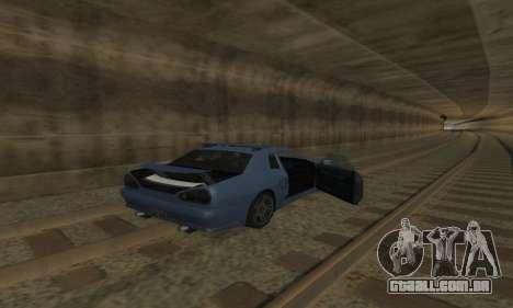 Padrão Elegia com um retrátil spoiler para GTA San Andreas vista superior