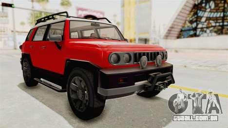 GTA 5 Karin Beejay XL IVF para GTA San Andreas vista direita