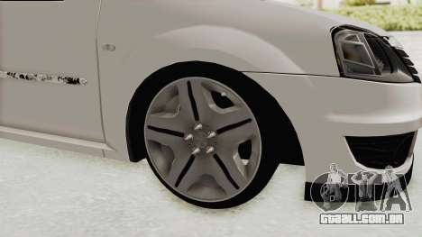 Dacia Logan 2013 para GTA San Andreas vista traseira