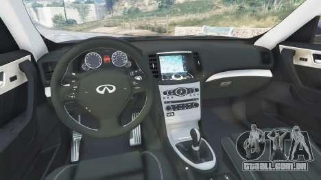 GTA 5 Infiniti FX S50 vista lateral direita