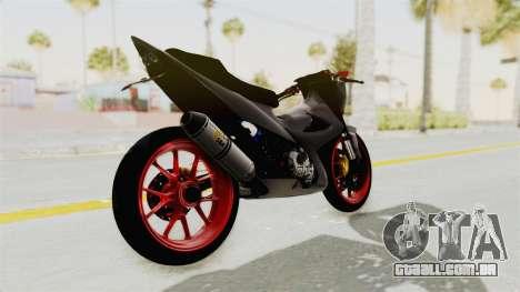 Satria FU 150 Modif FU 250 Superbike para GTA San Andreas traseira esquerda vista