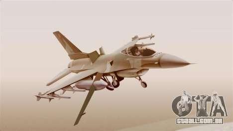 F-16A General Dynamics Chadian Air Force para GTA San Andreas