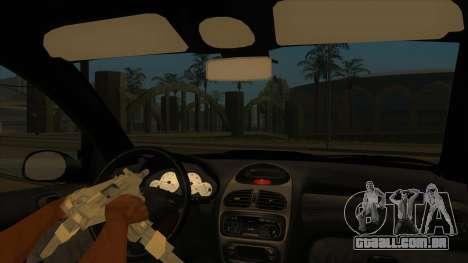 Peugeot 206 MO Edit para GTA San Andreas vista interior
