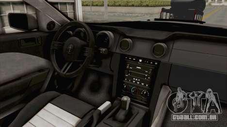 Ford Mustang 2005 Monster Truck para vista lateral GTA San Andreas