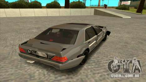Mercedez-Benz W140 para GTA San Andreas vista interior
