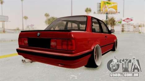BMW M3 E30 Camber Low para GTA San Andreas vista direita