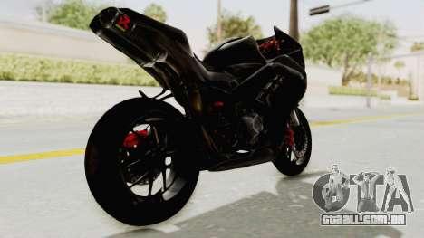 Kawasaki Ninja 300 FI Modification para GTA San Andreas esquerda vista