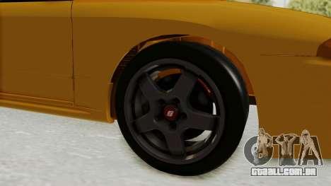 Nissan Skyline R32 4 Door Taxi para GTA San Andreas vista traseira