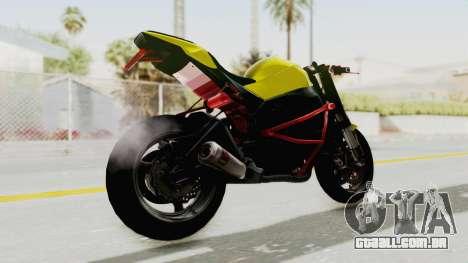 Kawasaki Ninja ZX-10R Nakedbike Stunter para GTA San Andreas esquerda vista