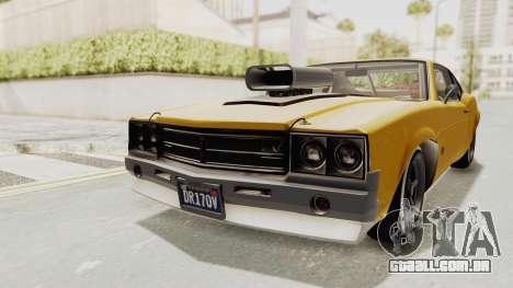 GTA 5 Declasse Sabre GT2 B IVF para GTA San Andreas traseira esquerda vista