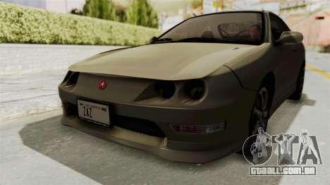 Acura Integra Fast N Furious para GTA San Andreas vista direita