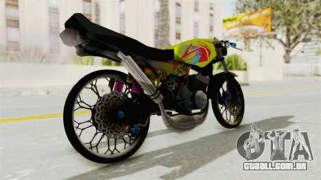 Yamaha RX King 200 CC Killing Ninja para GTA San Andreas esquerda vista
