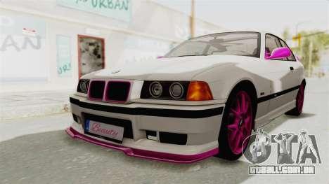 BMW M3 E36 Beauty para GTA San Andreas traseira esquerda vista