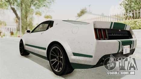 GTA 5 Vapid Dominator v2 SA Style para GTA San Andreas esquerda vista