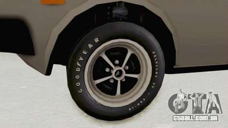 Fiat 131 Supermirafiori para GTA San Andreas vista traseira