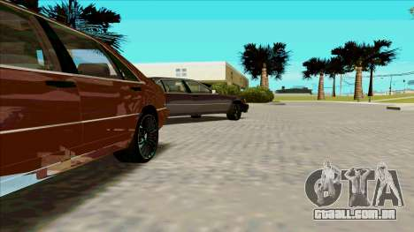 Mercedez-Benz W140 para GTA San Andreas esquerda vista