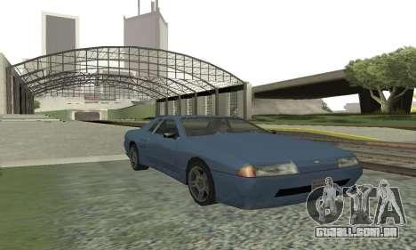 Padrão Elegia com um retrátil spoiler para GTA San Andreas esquerda vista