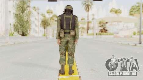 MGSV Ground Zeroes US Pilot v1 para GTA San Andreas terceira tela