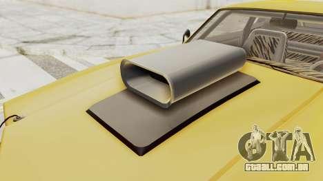 GTA 5 Declasse Sabre GT2 B IVF para GTA San Andreas vista interior