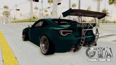 Scion FRS Rocket Bunny Killagram v1.0 para GTA San Andreas vista direita