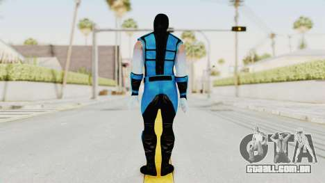 Mortal Kombat X Klassic Sub Zero UMK3 v2 para GTA San Andreas terceira tela