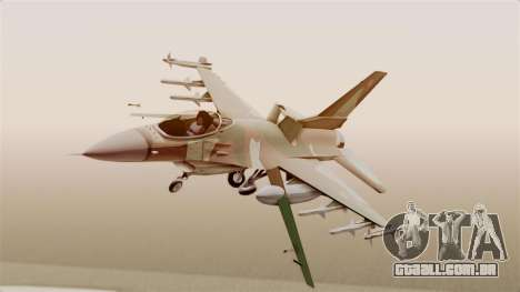 F-16A General Dynamics Chadian Air Force para GTA San Andreas traseira esquerda vista