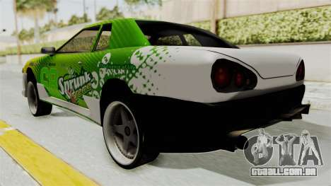 New Elegy para GTA San Andreas traseira esquerda vista