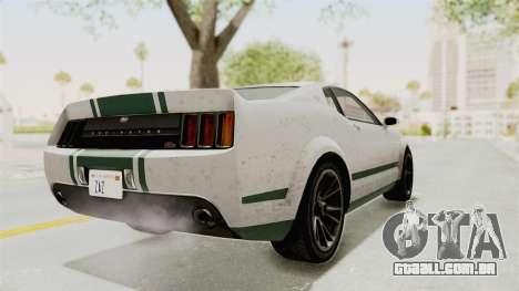 GTA 5 Vapid Dominator v2 SA Style para GTA San Andreas traseira esquerda vista