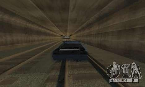 Padrão Elegia com um retrátil spoiler para vista lateral GTA San Andreas